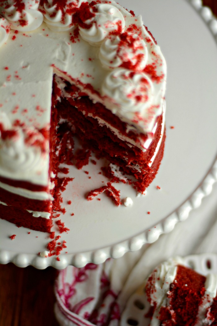 View of Red Velvet Cake