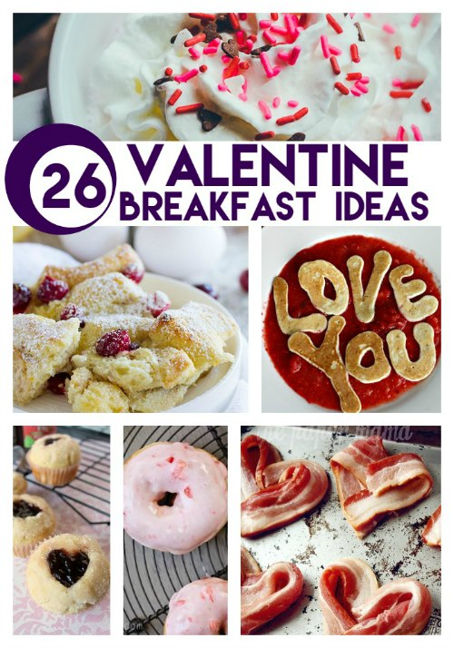 26 Valentine Breakfast Ideas compiled by Crystal & Comp.