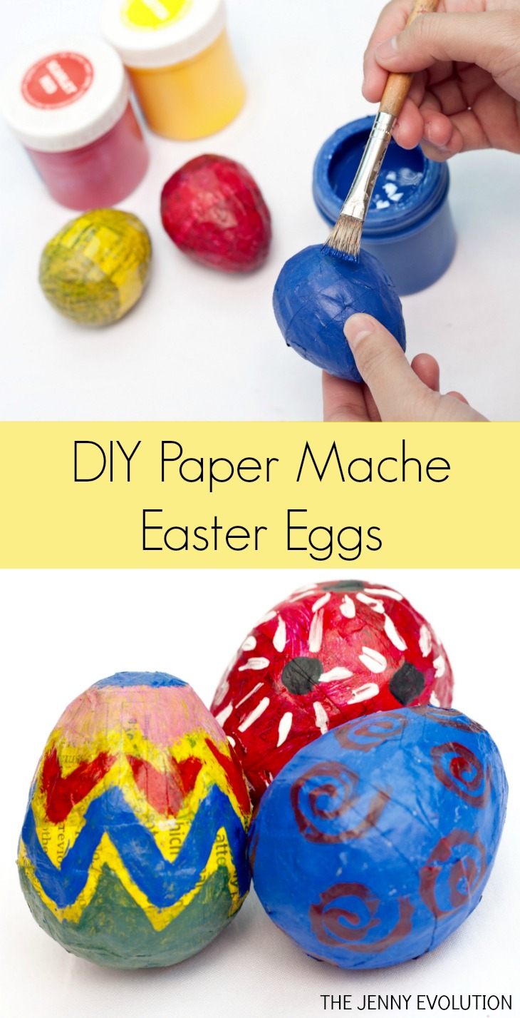 Diy easter paper mache eggs the jenny evolution for What can you paper mache