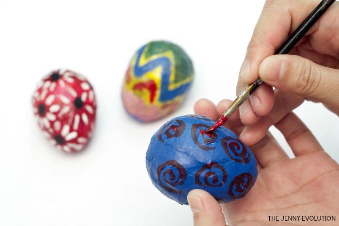 Decorate Paper Mache Eggs