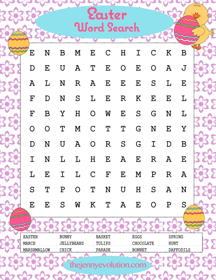 It's just a picture of Free Printable Easter Word Search pertaining to large print