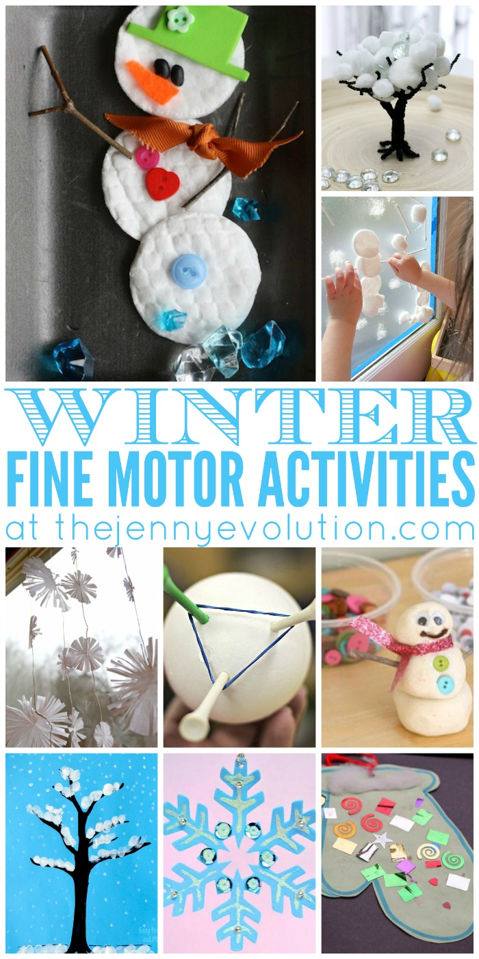 Fine Motor Winter Activities for Preschoolers | The Jenny ...
