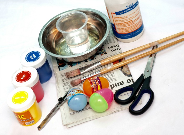 Materials for Paper Mache Eggs