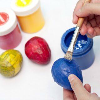DIY Paper Mache Eggs