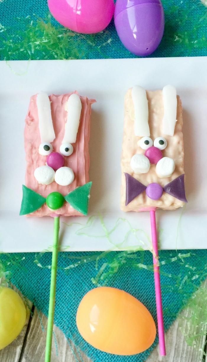 Rice Crispy Bunny Pops