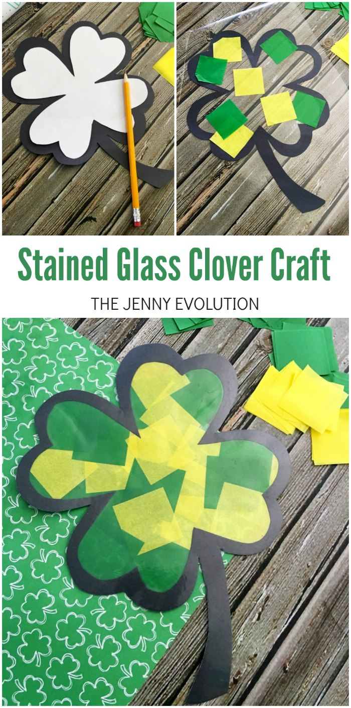 Stained Glass Clover Craft for Kids
