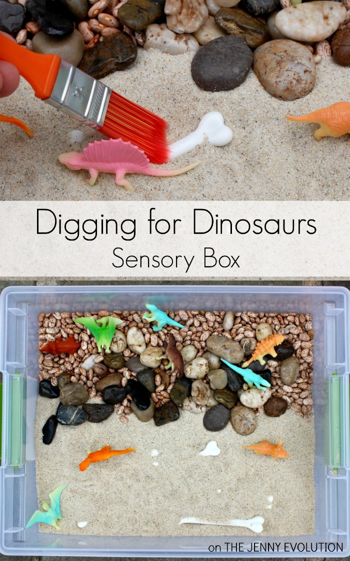 Digging for Dinosaurs Sensory Bin and Activity for Toddlers