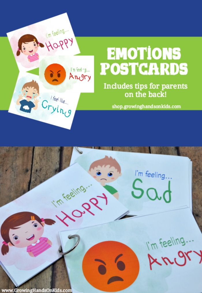 Emotions Postcards for Kids