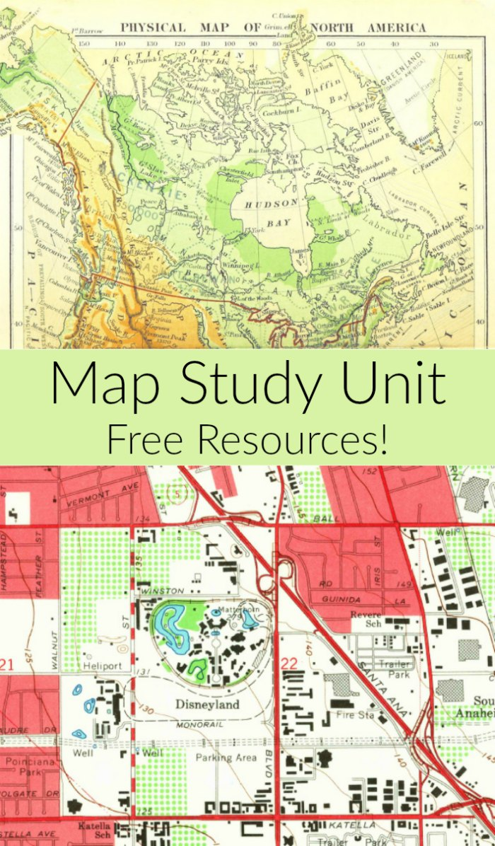 Free Map Study Unit Resources + Map Books for Children