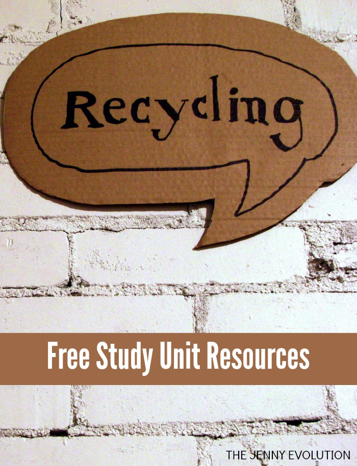 Free Recycling Study Unit Resources + Children's Recycling Books