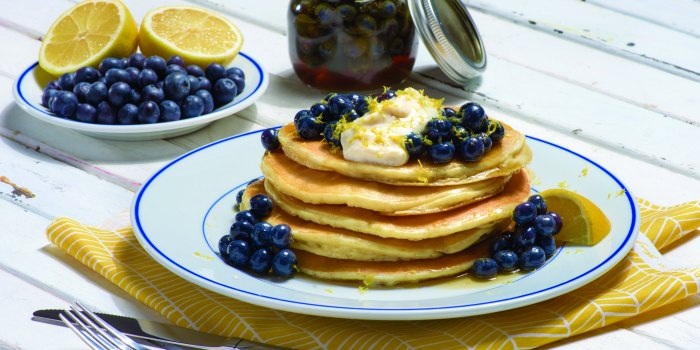 Lemon Blueberry Pancakes fb