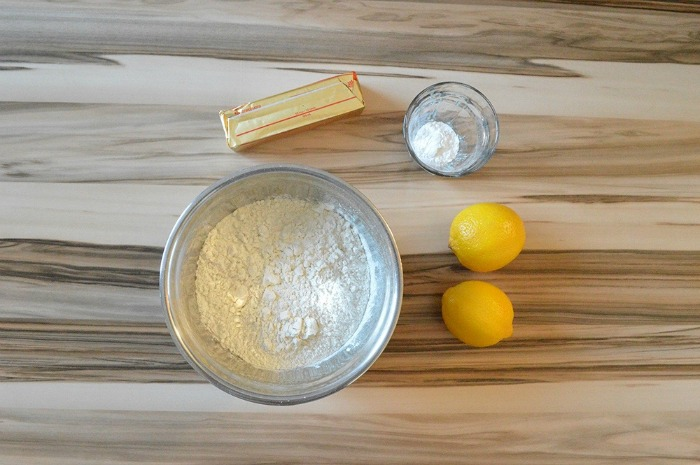 Lemon Cookie Ingredients