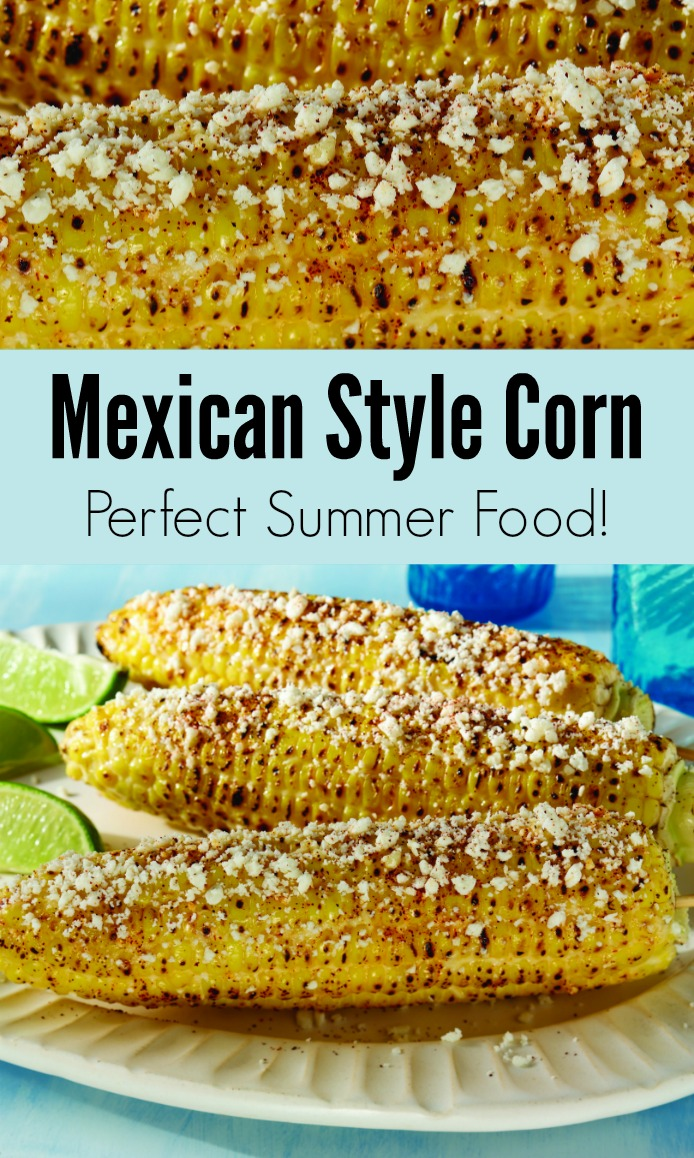 Mexican Corn knocks the socks off of any corn dish you could possible serve this summer. Whether you're celebrating Cinco de Mayo or 4th of July, this Mexican Corn Recipe is going to complete any backyard barbecue!
