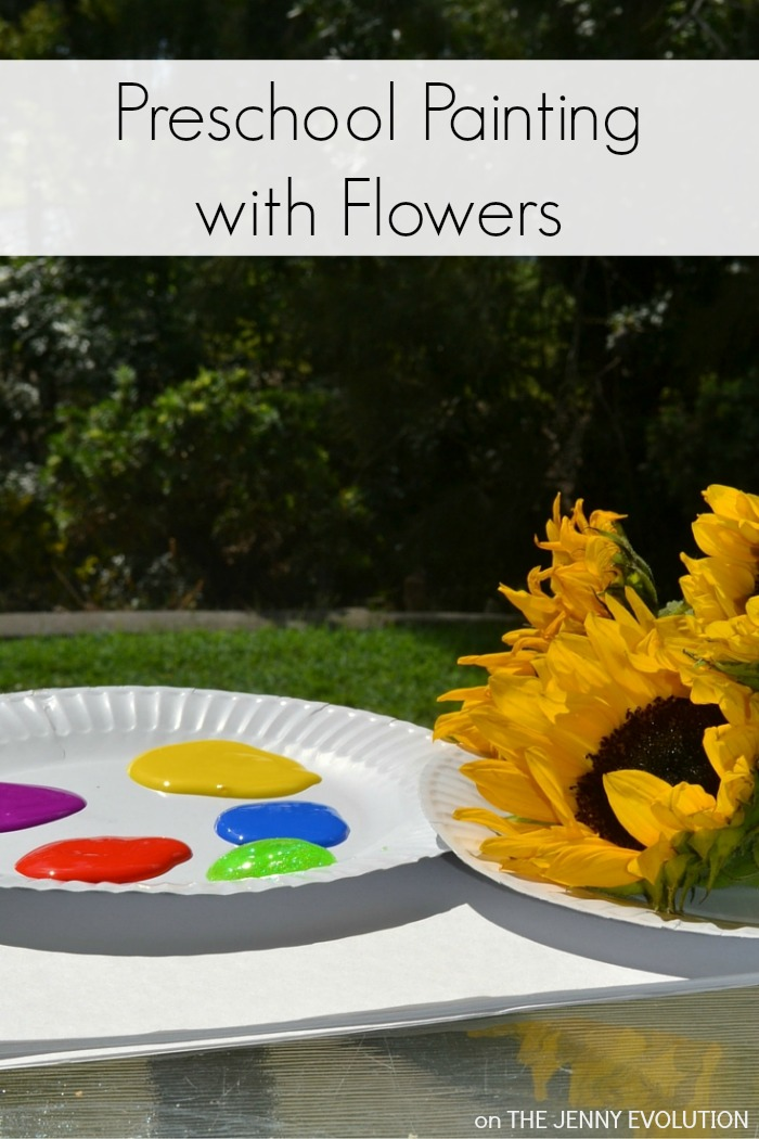 Painting with a Twist! Preschool Painting with Flowers
