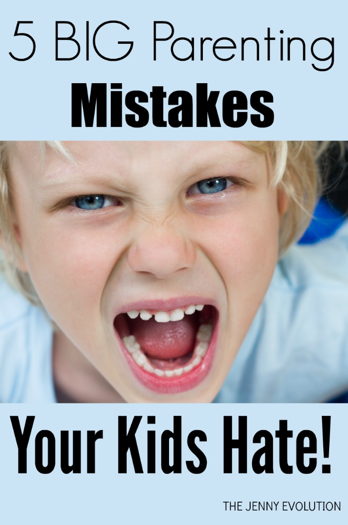 5 BIG Parenting Mistakes Your Kids Hate | The Jenny Evolution