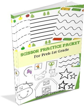 Scissor Practice Packet for Cutting Skills