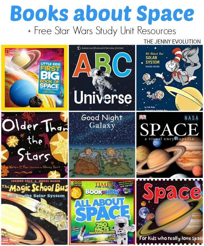 Out Space Books for Kids + FREE Star Wars Study Unit Resources
