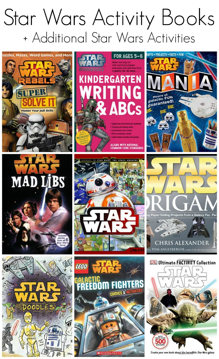 Star Wars Activity Books + Additional Star Wars Activities