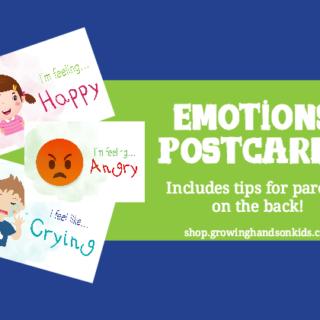Teaching Emotions to Kids: Emotions Postcards