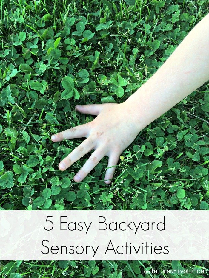 5 Easy Backyard Spring Sensory Activities