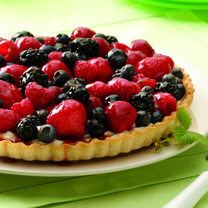 Fresh Mixed Berry Tart, shared by The Jenny Evolution at The Chicken Chick's Clever Chicks Blog Hop