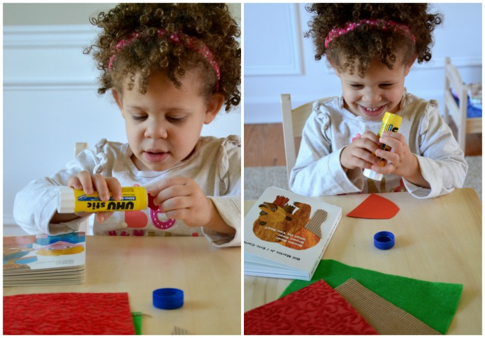 Creating a toddler sensory book