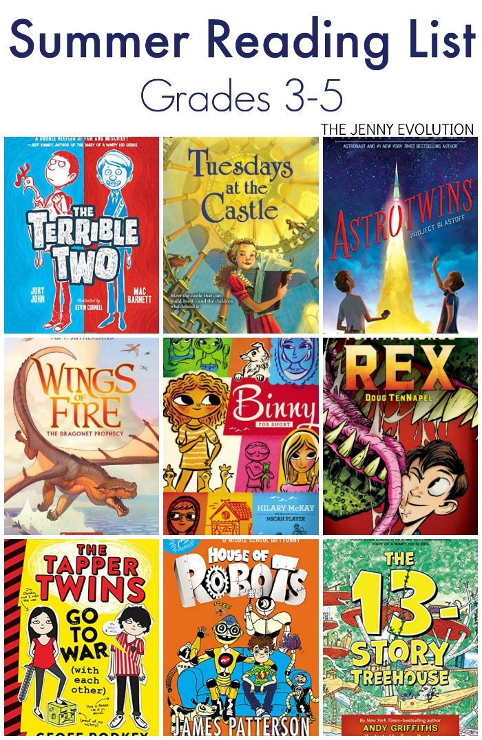Elementary Summer Reading List - Grade 3, 4 and 5