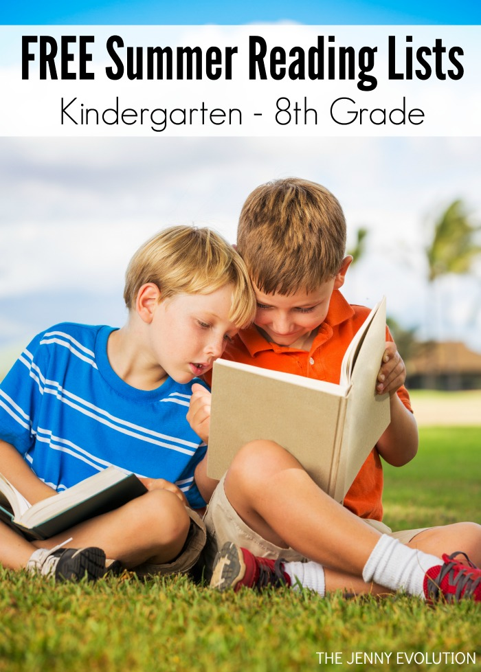 FREE Summer Reading Lists - Elementary through Middle School