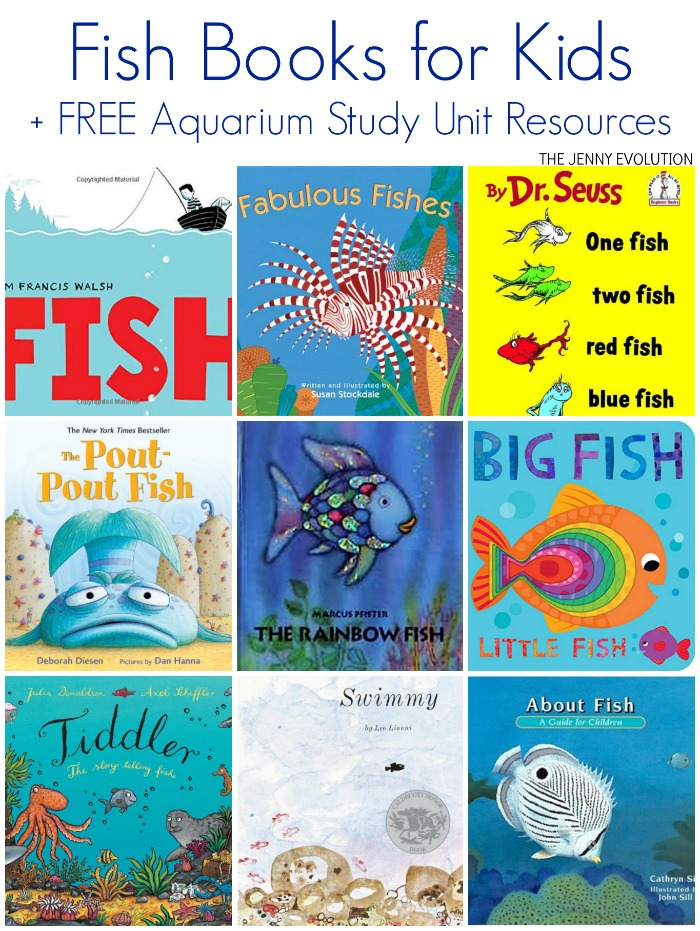 Fish Books for Kids + FREE Aquarium Study Unit Resources