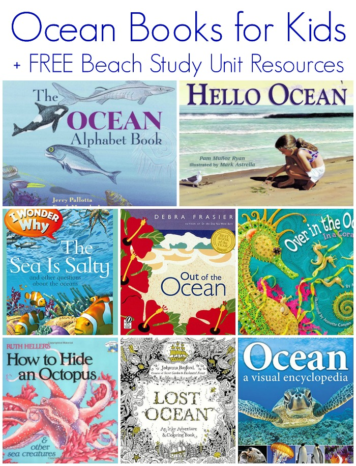 Children's Ocean Books for Kids + FREE Beach Study Unit Resources