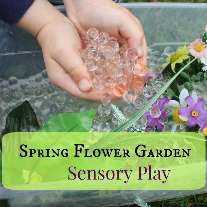 Sensory Flower Garden Sensory Play - Square