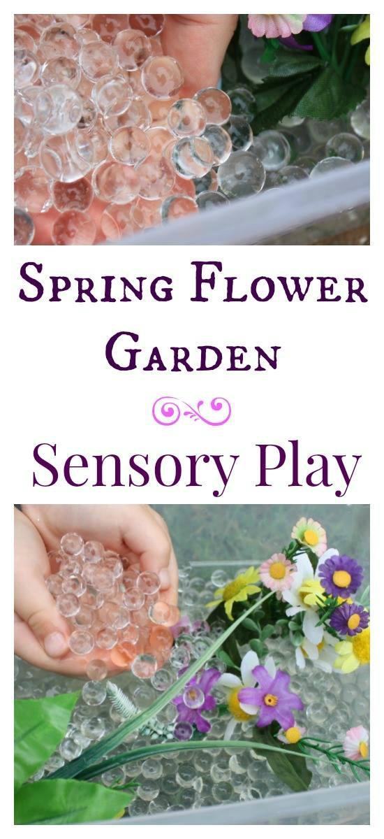 Spring Flower Garden & Sensory Play | Mommy Evolution