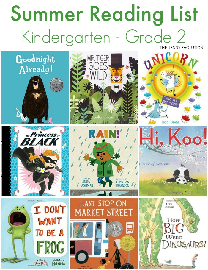 Summer Reading List Early Elementary