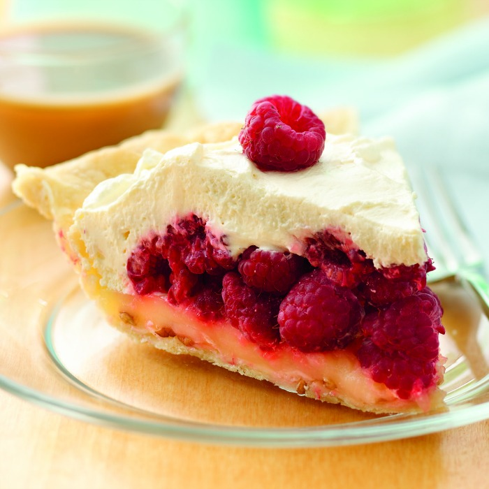 lemon raspberry pie square