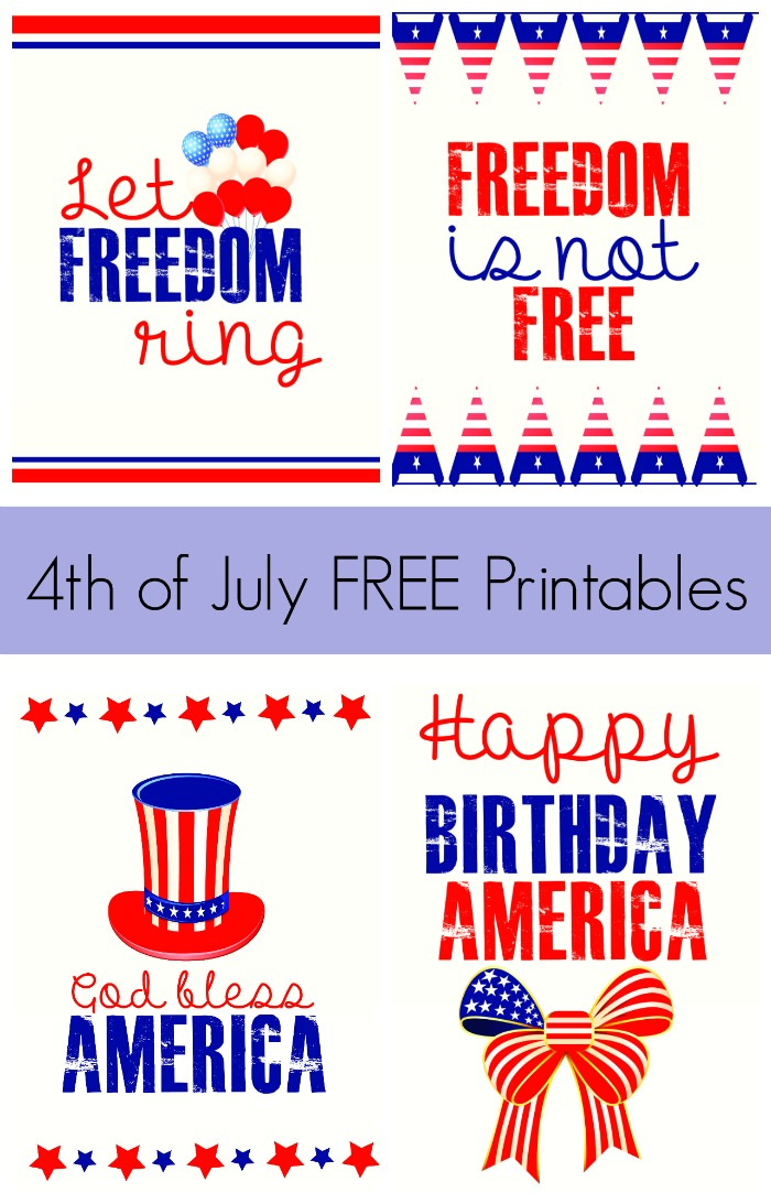 It is a picture of Playful Free 4th of July Printables