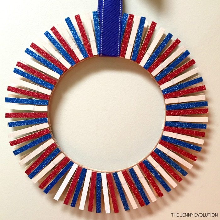 4th of July Wreath square