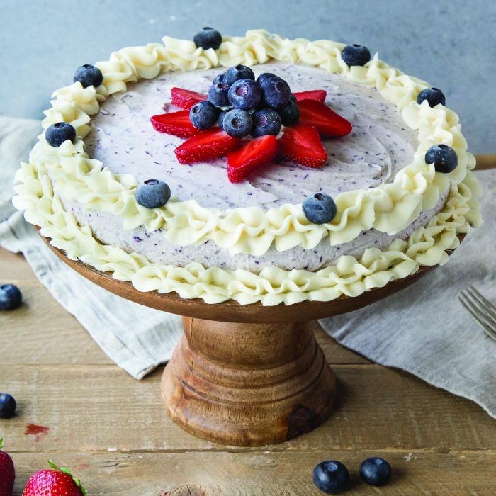Blueberry Ice Cream Cake Recipe Square