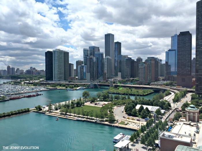 Chicago Skyline View from Navy Pier Ferris Wheel