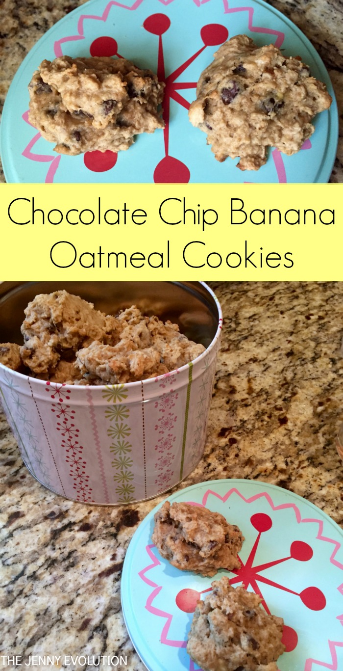 Chocolate Chip Banana Oatmeal Cookies Recipe | Mommy Evolution