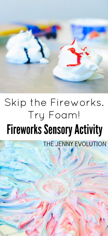 4th of July Fireworks Foam Sensory Activity | The Jenny Evolution