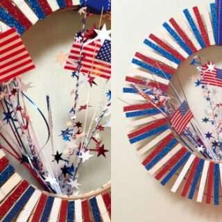 Clothespin 4th of July Wreath