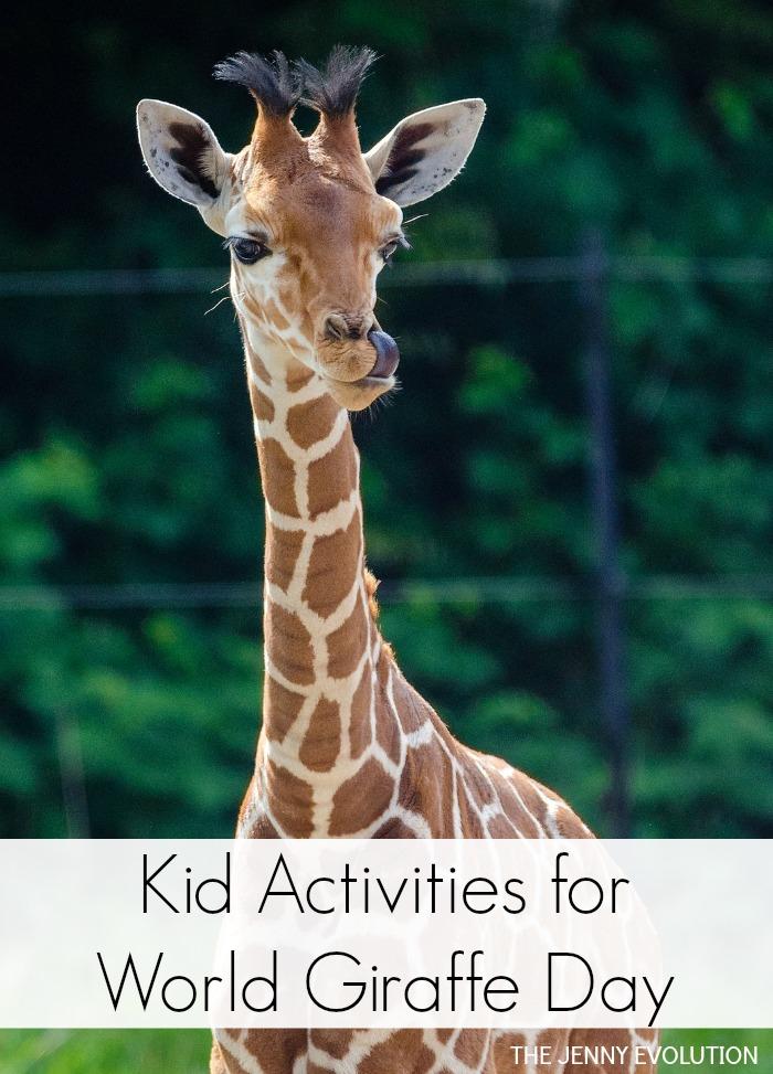Kid Activities for World Giraffe Day + Children's Books Featuring Giraffes