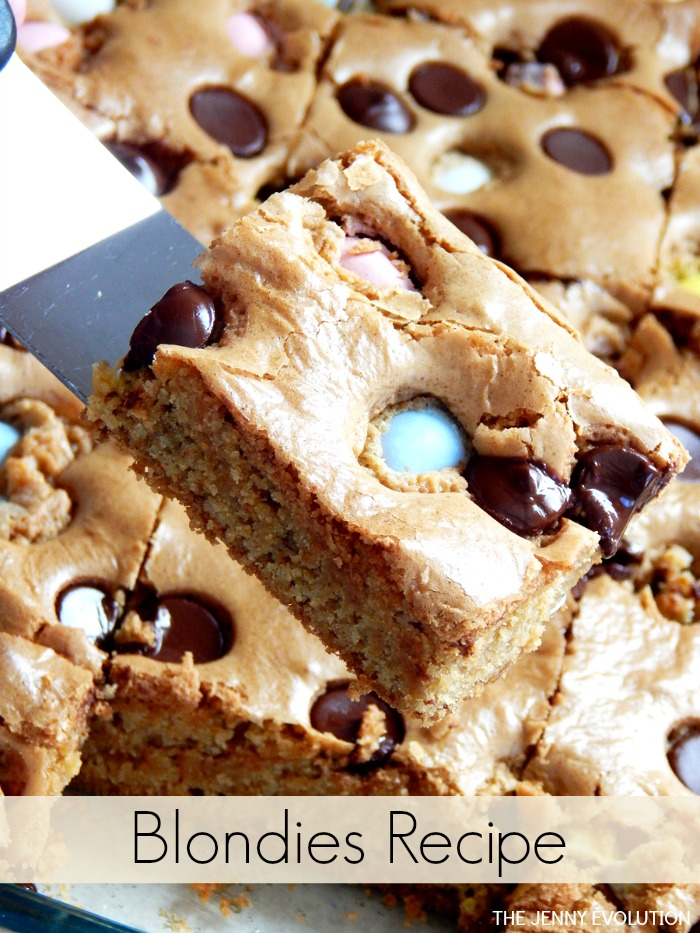 Left Over Candy Blondie Recipe by The Jenny Evolution