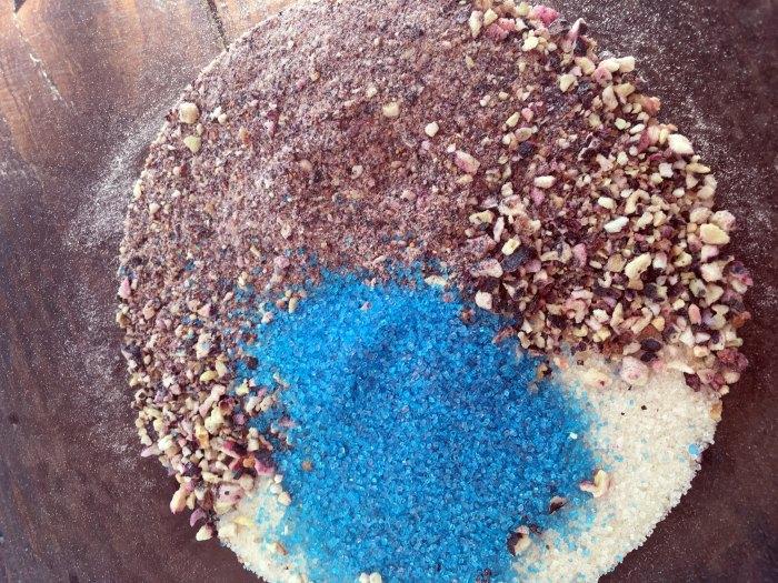 Blueberry Sugar Scrub In-Process #2