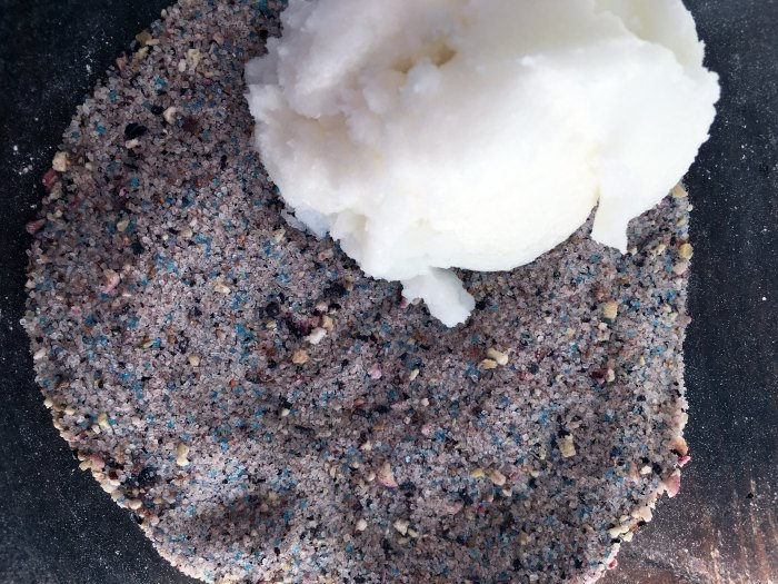 Blueberry Sugar Scrub In-Process #4