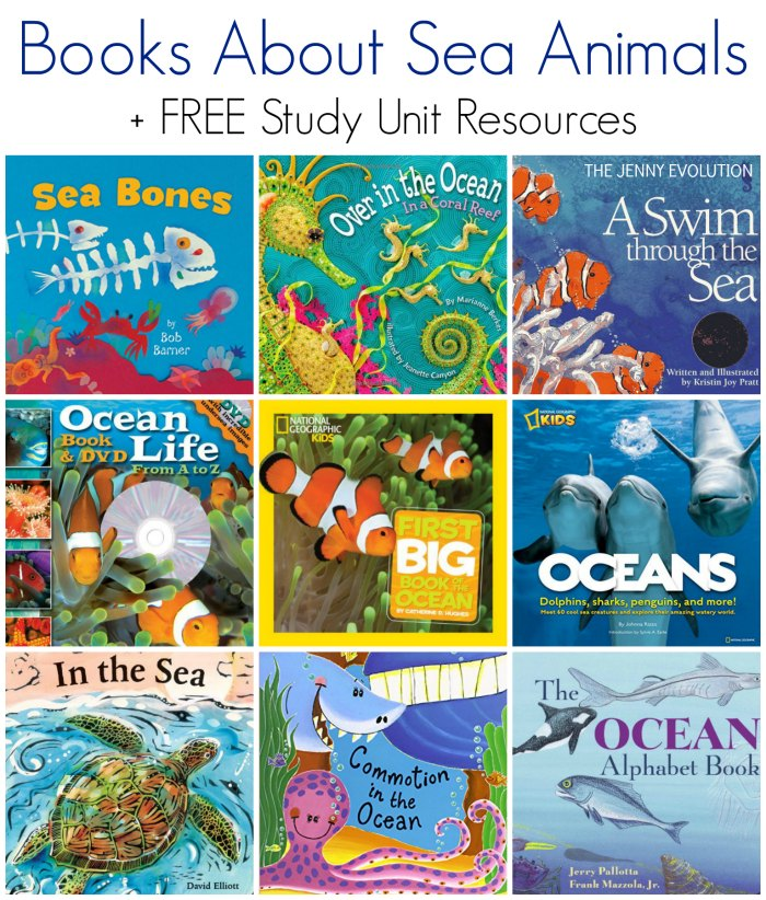 Children's Books about Sea Animals + FREE Ocean Animals Study Unit Resources