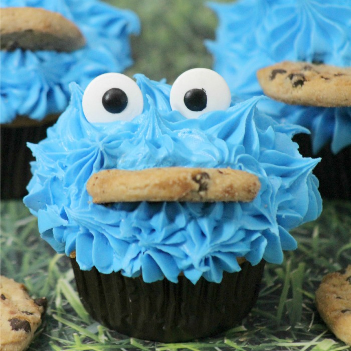 Cookie Monster Cupcakes Square