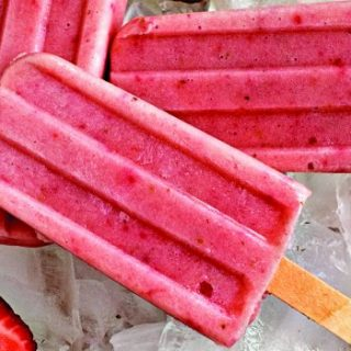 DIY Banana Strawberry Popsicles FB