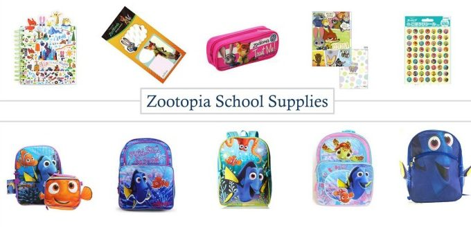 FB Finding Dory and Zootopia School Supplies IMAGE