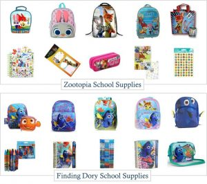Finding Dory and Zootopia School Supplies